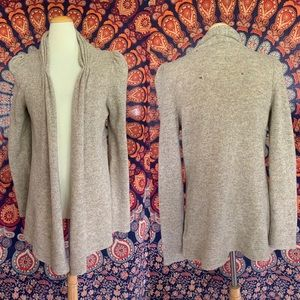 Anthropologie Tokyo Map Structured Wool Cardigan S